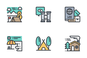 Adventure And Camping Icon Pack