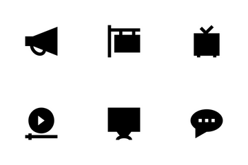 Advertising And Media Icon Pack