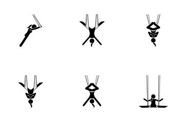 Aerial Yoga Icon Pack