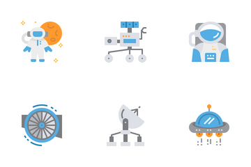 Aerospace And Astronomy Icon Pack