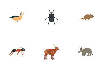 African Animals Icon Pack