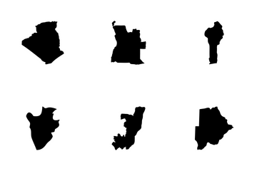 African Countries Maps Icon Pack