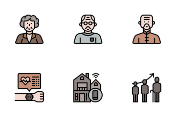 Ageing Society Icon Pack
