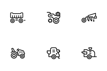 Agricultural Industry Icon Pack
