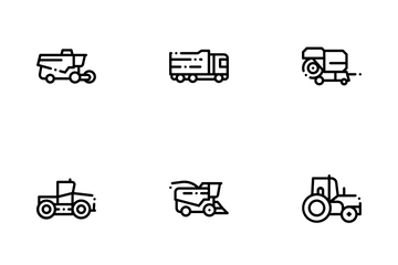 Agricultural Vehicles Icon Pack