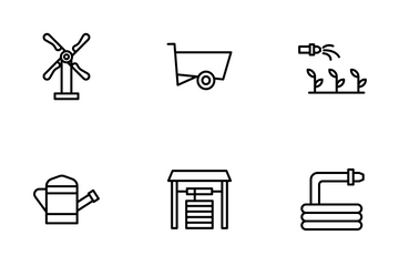 Agriculture And Farmer Icon Pack
