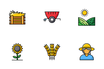 Agriculture, Farming And Gardening Icon Pack