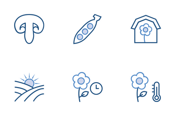 Agriculture, Farming & Gardening Icon Pack