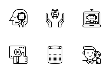 AI(Artificial Intelligence) Outline Icon Pack