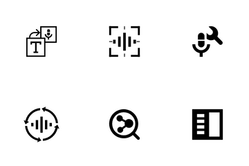 AI Recognition Set Icon Pack