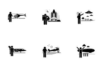 Air Transportation Icon Pack