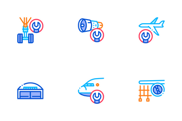 Aircraft Repair Tool Icon Pack
