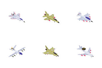 Aircrafts And Fighter Jets Icon Pack