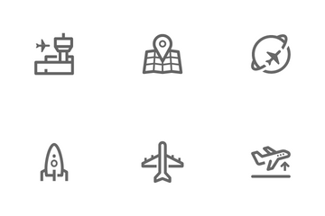 Airplane & Airport Icon Pack