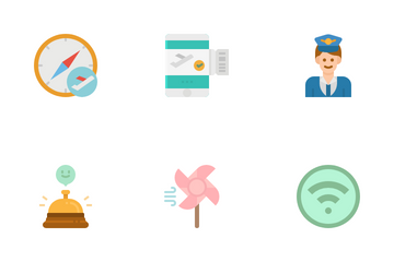 Airplane Sign Icon Pack