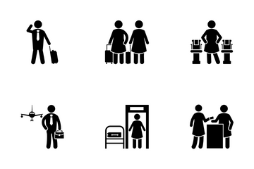Airport Human Icon Pack