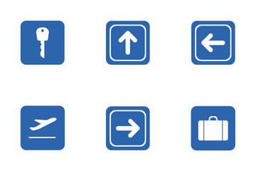 Airport Navigation Labels  Icon Pack
