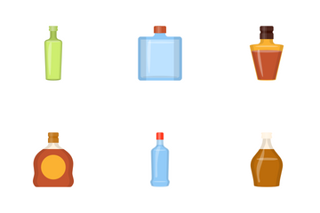 Alcohol Bottles Icon Pack