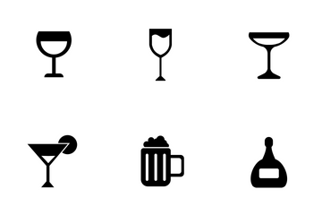 Alcohol Drinks Icon Pack