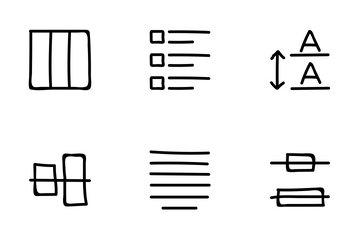 Alignment And Paragraph Icon Pack