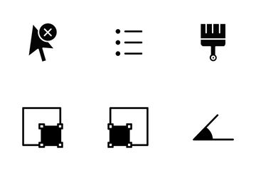 Alignment And Tools - Glyph Icon Pack