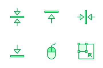 Alignment And Tools - Mono Lineal Color Icon Pack