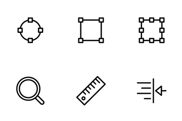 Alignment And Tools - Outline Icon Pack