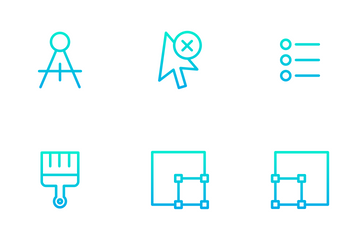 Alignment And Tools - Outline Gradient Icon Pack