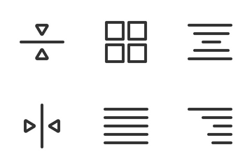 Alignment & Text Icon Pack