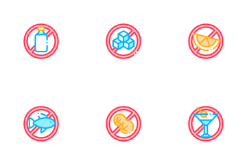 Allergen Free Products Icon Pack