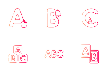 Alphabet And Numbers Icon Pack