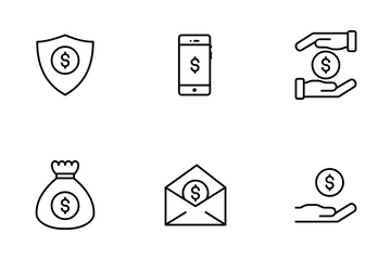American Dollar Icon Pack