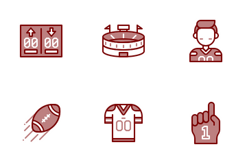 American Football Chromatic Icon Pack