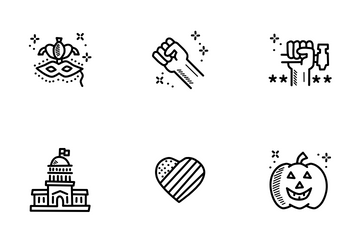 American Holidays Icon Pack