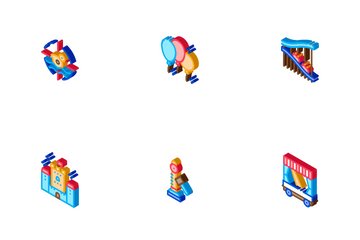 Amusement Park And Attraction Icon Pack