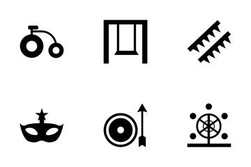 Amusement Park Vector Icons Icon Pack
