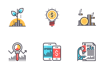 Analytics And Investment Icon Pack