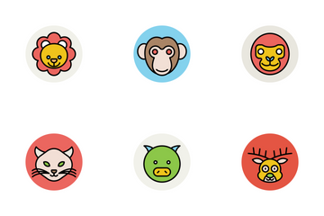 Animal Face Avatars Icon Pack