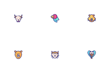 Animal Faces Icon Pack