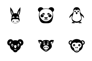 Animal Faces Vector Icons Icon Pack