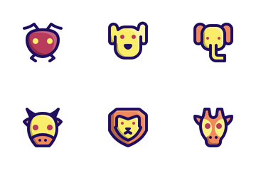 Animal (Filled Line) Icon Pack