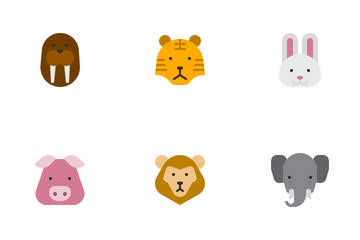 Animal Flat Colors Icon Pack