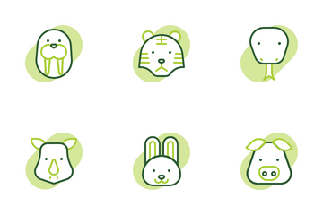 Animal Shape Colors Icon Pack