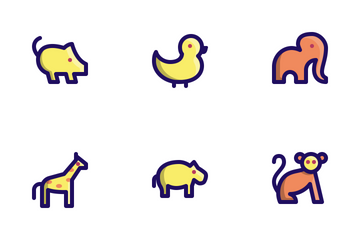 Animal Vol.2 (Filled Line) Icon Pack