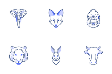 Animals Faces Icon Pack