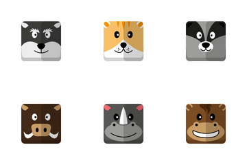 Animals Head Icon Pack