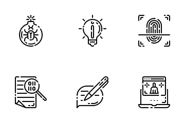 Antivirus And Internet Security Icon Pack