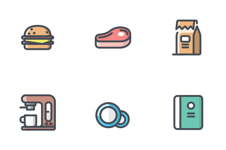 App/Food Drink Bolt Line Icon Pack