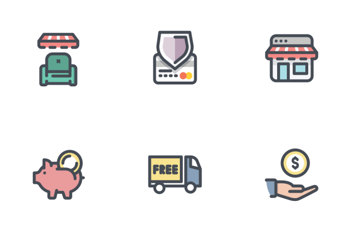 App Shop Bold Line Icon Pack