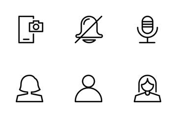 Application User Interface Outline Icon Pack